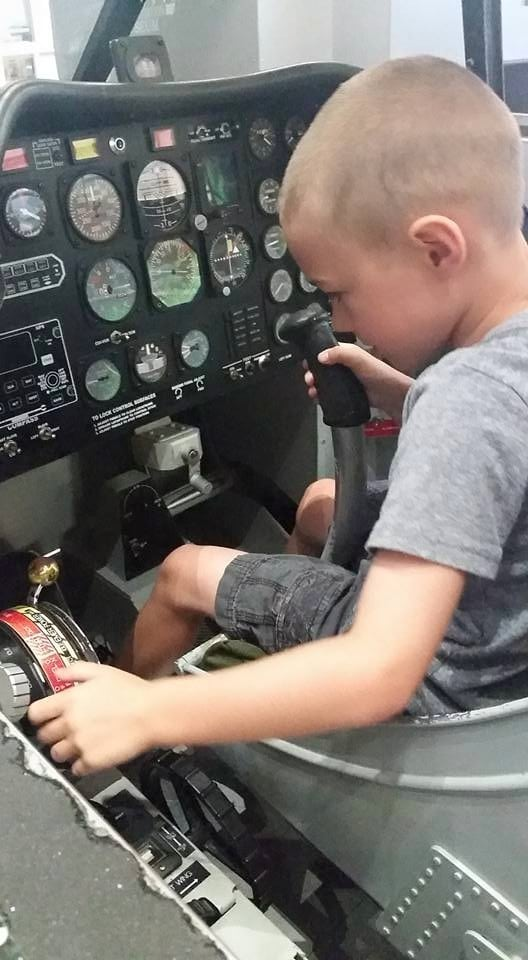 A in cockpit
