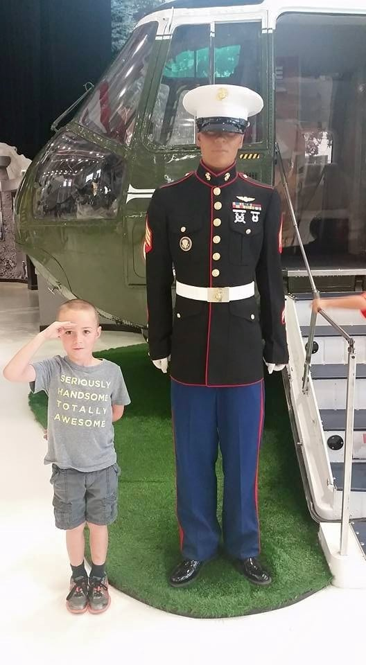 Marine and Ayden - Naval Aviation Museum