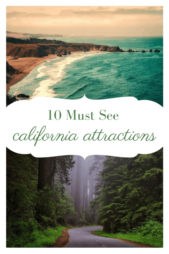 Headed to California? Check out these 10 must see california attractions. From the Golden Gate Bridge to the Shore and everything in between.