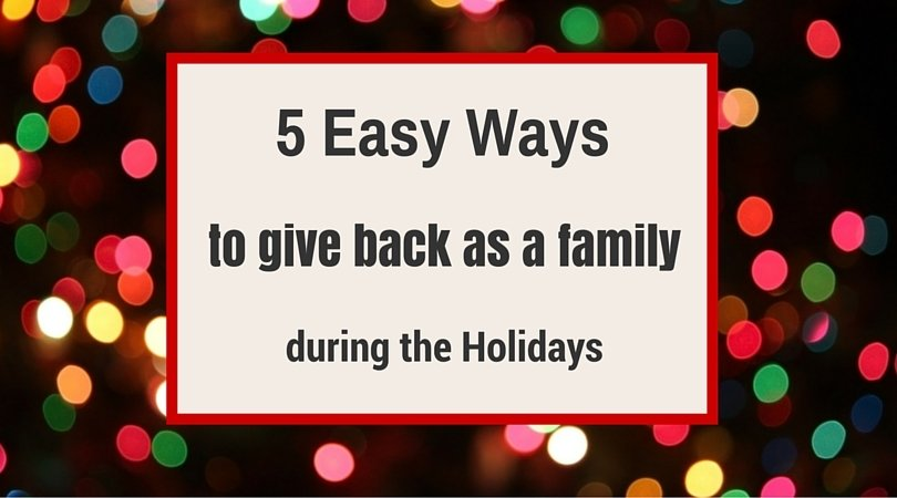 5 Ways to give back as a Family