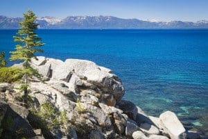 Beautiful Clear Water Shoreline of Lake Tahoe.