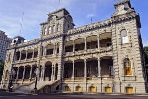Iolani Palace, the only royal palace in the United States.