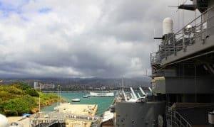 USS Missouri Overlooking USS Arizona