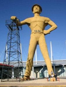 Worlds Largest Driller Statue