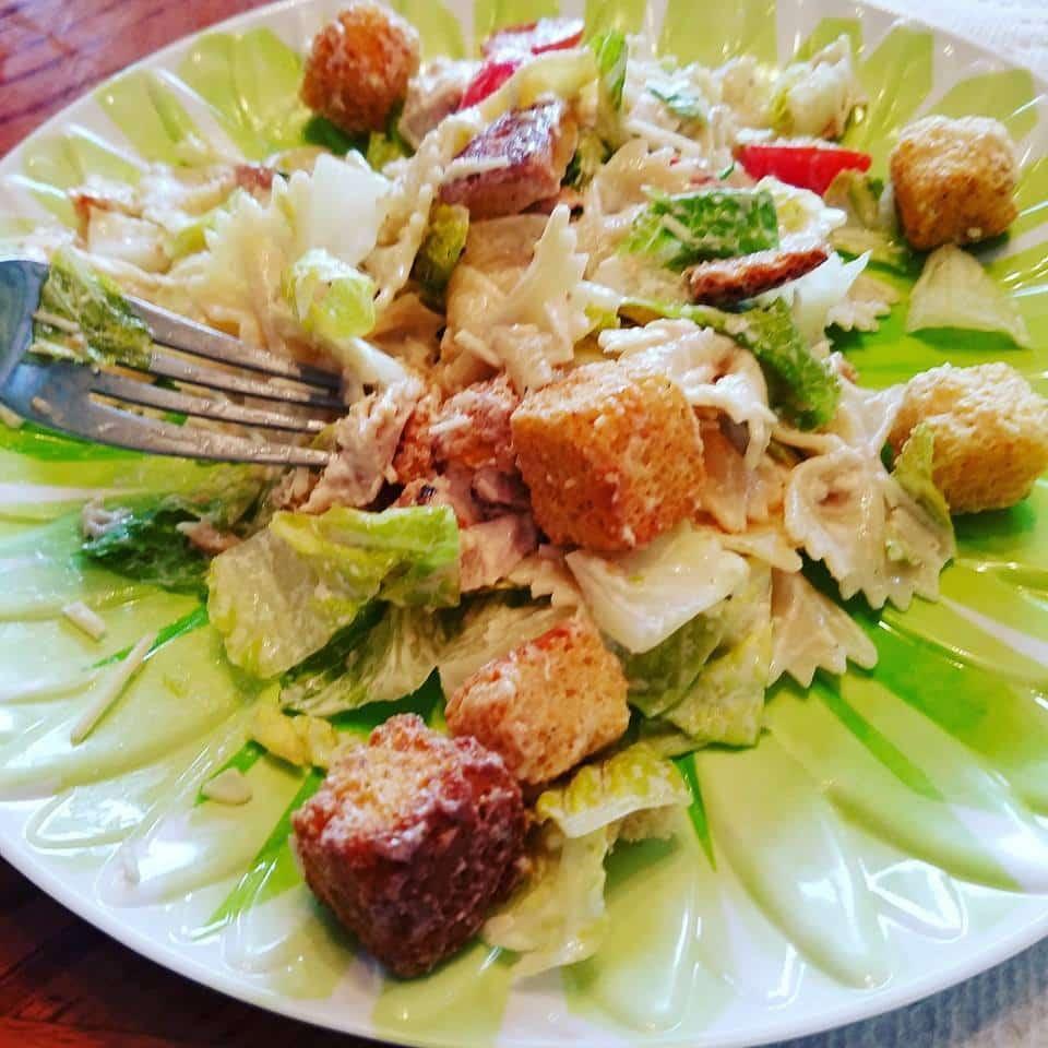 Recipe: Chicken Caesar Pasta Salad