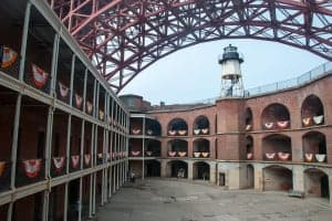 Courtyard at Fort Point during National Park Week