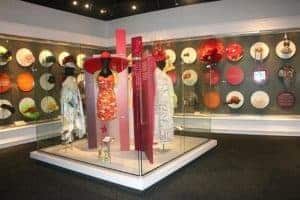 Hats on display at the Kentucky Derby Museum