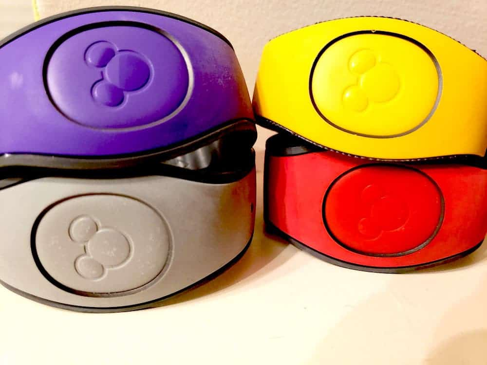 Different colored magic bands