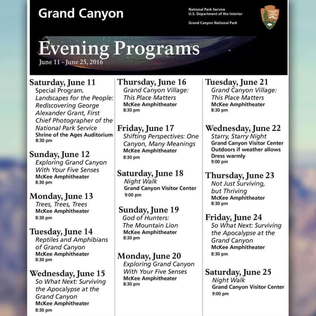 Grand Canyon Evening Programs