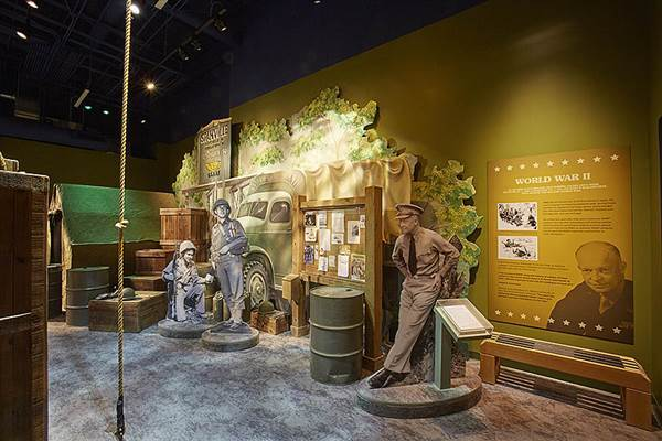 An exhibit focused on SPAM's role in the military in the newly-opened Spam Museum in Austin, Minnesota. Courtesy of Hormel Foods