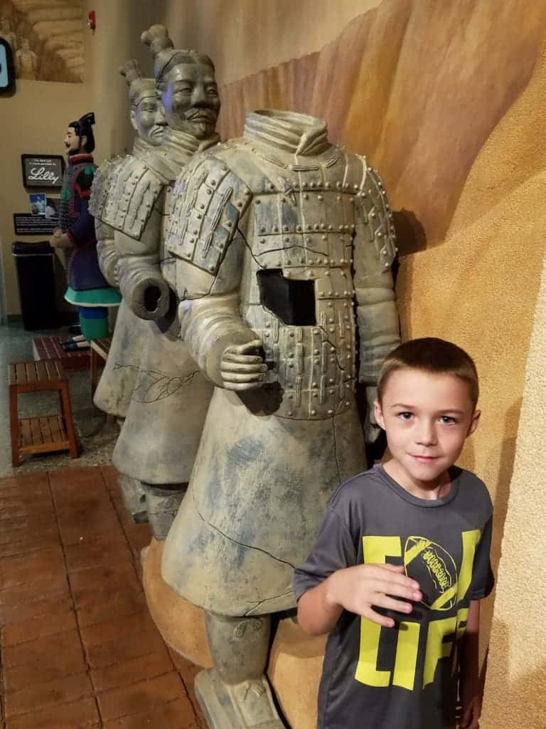 Terra Cotta Warrior Exhibit at the Children's Museum of Cincinnati