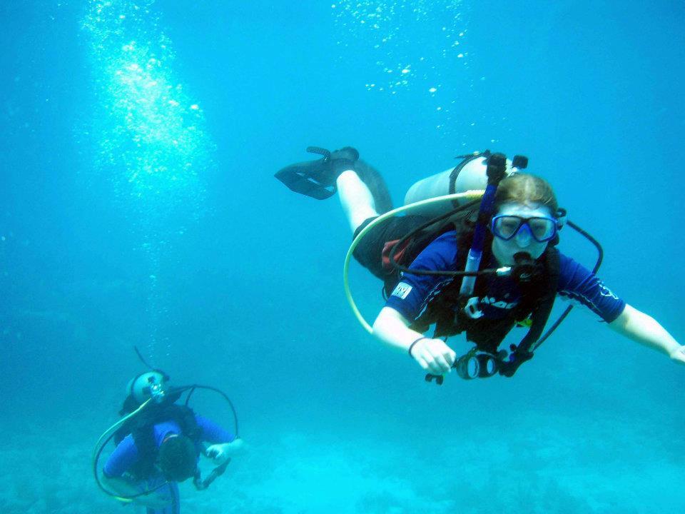 Kristina diving