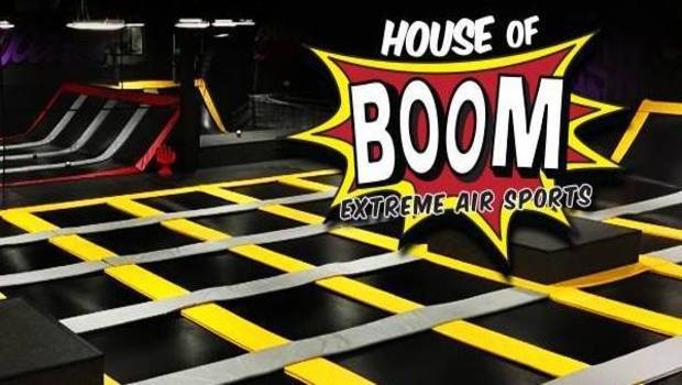 Jump around with your kids at house of boom