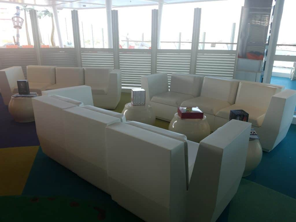 Part of the teen lounge on the Harmony of the Seas