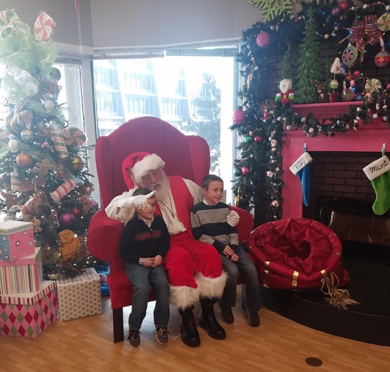 Santa at the Galt House Hotel