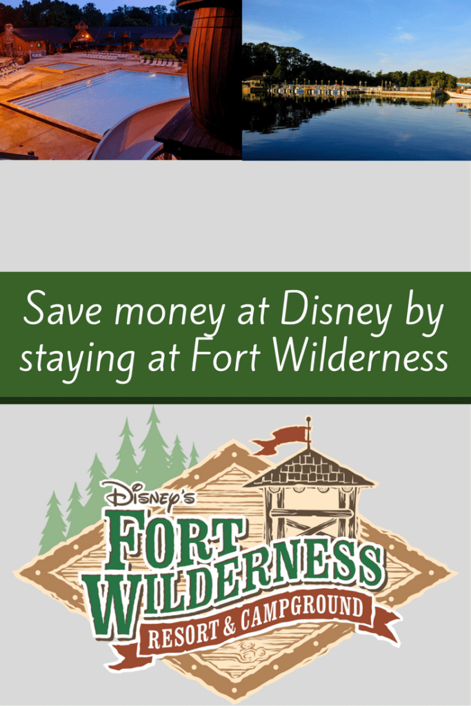Save Money at Disney by staying at Fort Wilderness.