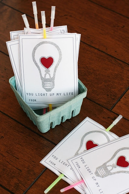 You Light Up My Life Valentine's Day Printables from Eighteen 25 Blog