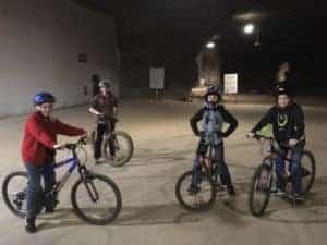 Biking at Louisville Mega Cavern