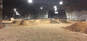 Indoor biking at Louisville Mega Cavern