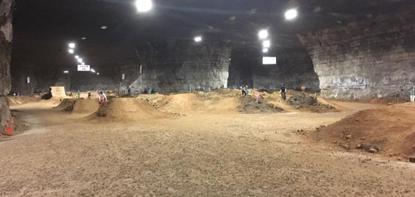 Indoor biking at Louisville Mega Cavern