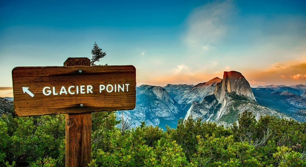 glacier point at yosemite national park