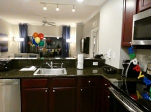 The full kitchen at the Grove Resort in Orlando Florida