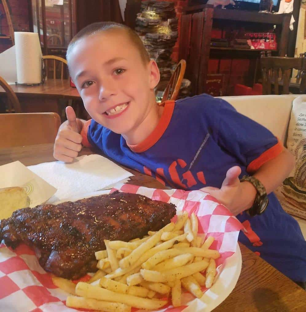 get the fantastic ribs at big dogs smoke house