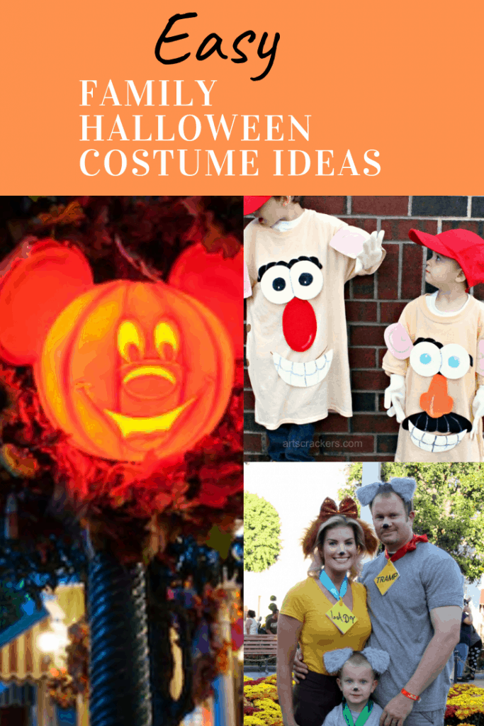 Looking for some easy ideas for your family to wear to Mickey's Not So Scary Halloween Party? We have compiled a variety of simple family Halloween costume ideas. #halloweencostumes #familyhalloweencostumes #easyhalloweencoustumes