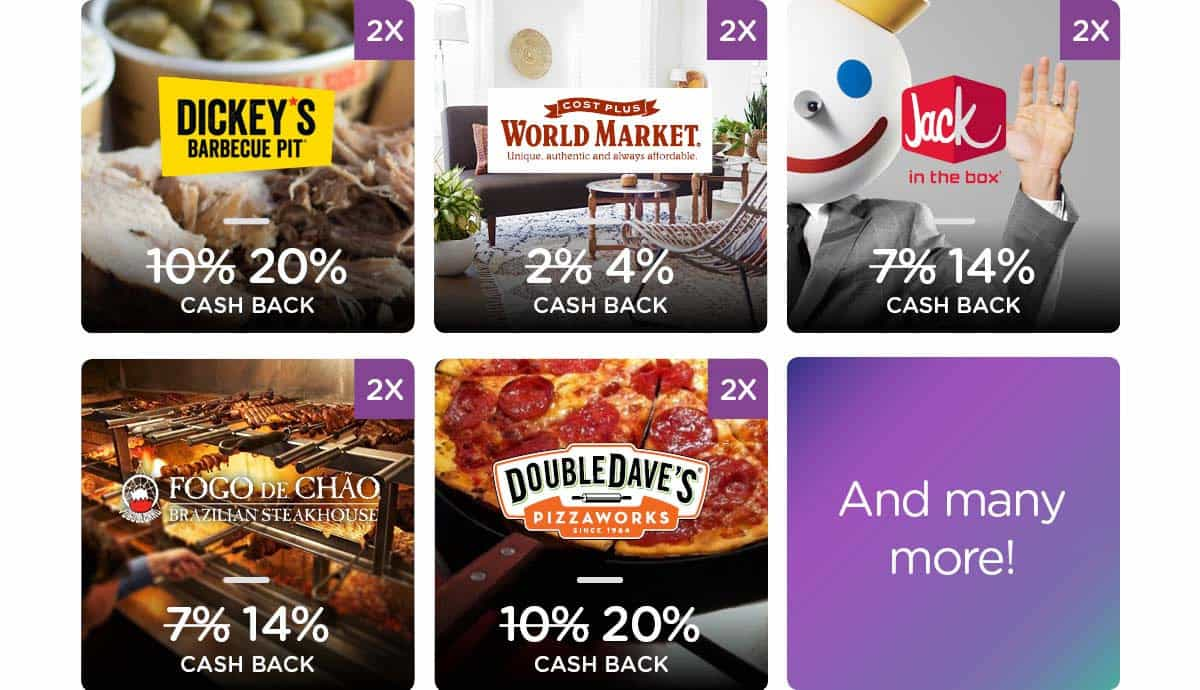 Double Cash Back with Dosh