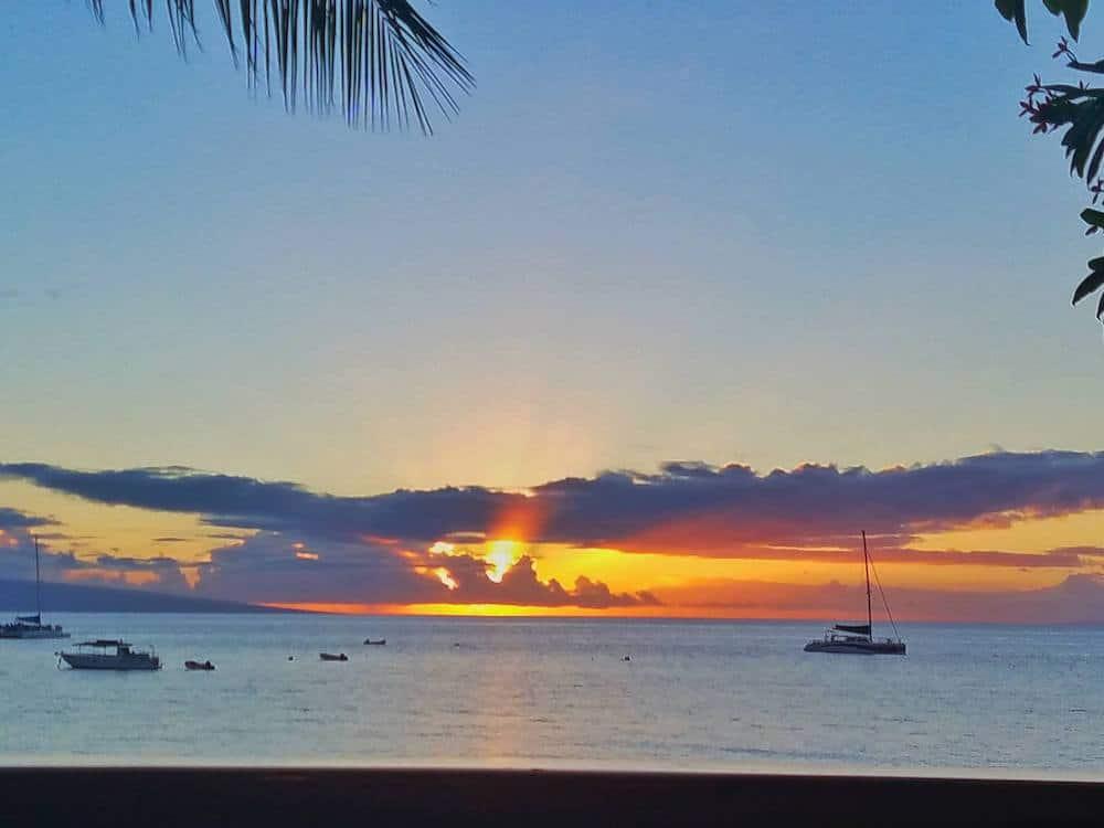 A beautiful sunset on Maui
