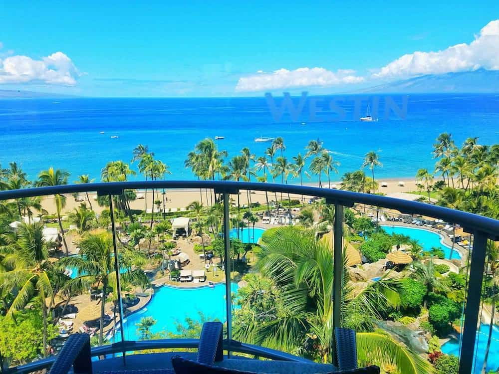 View From Balcony at Westin Maui Resort and Spa