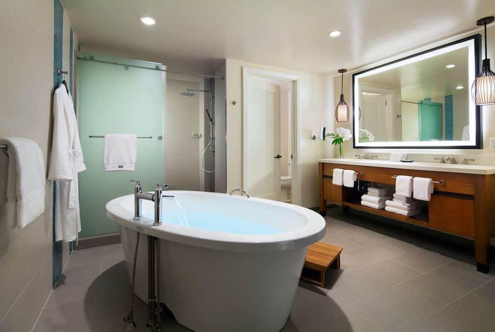 The bathroom in my 2 bedroom villa at the westin nanea