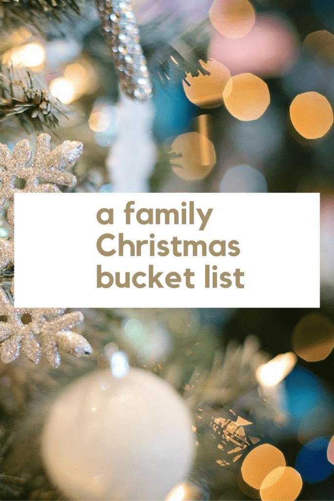 a family Christmas bucket list