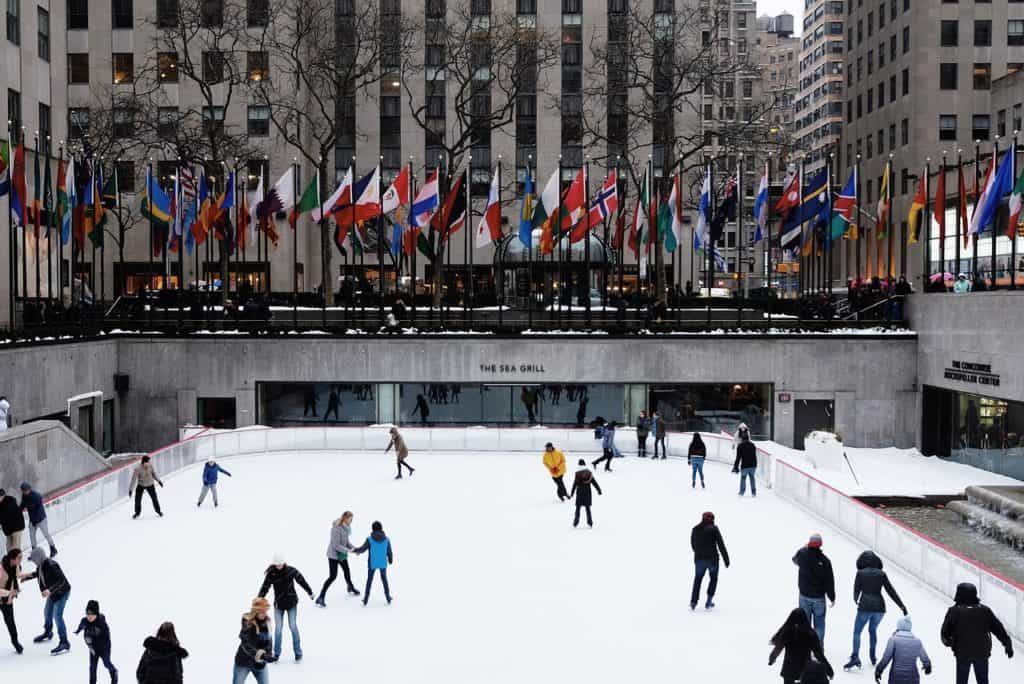 Ice Skating at Rockefeller Plaza - Christmas in New York City