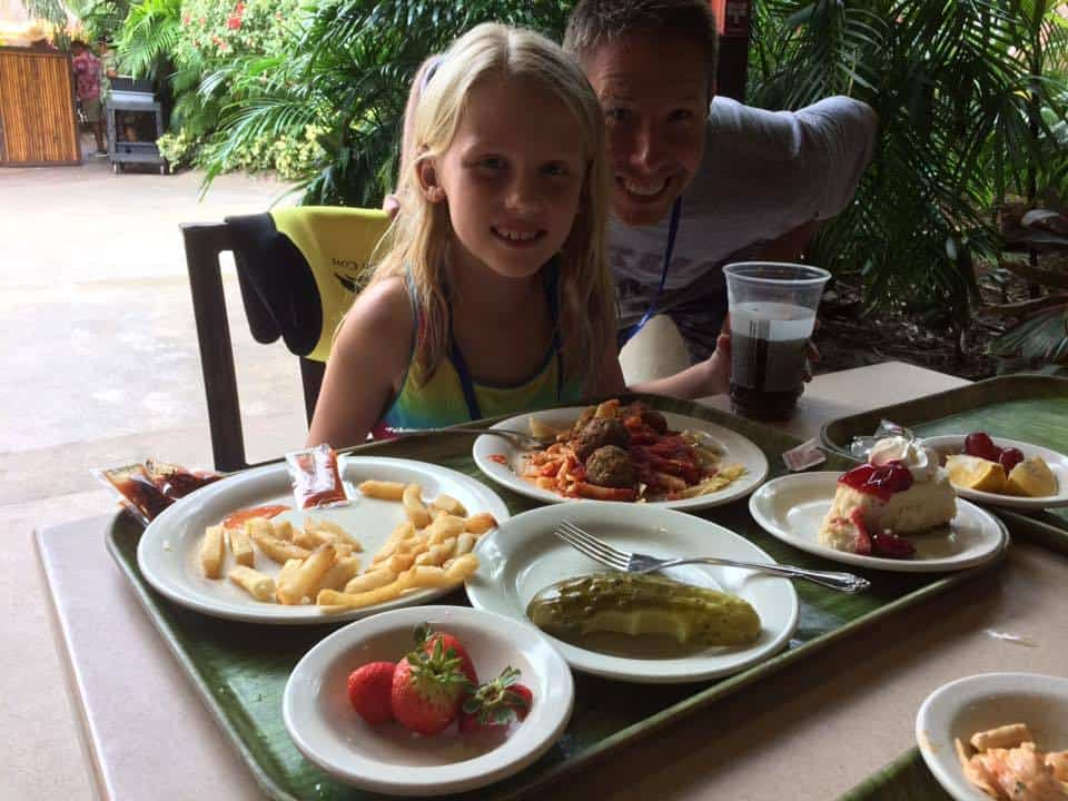 Food at Discovery Cove