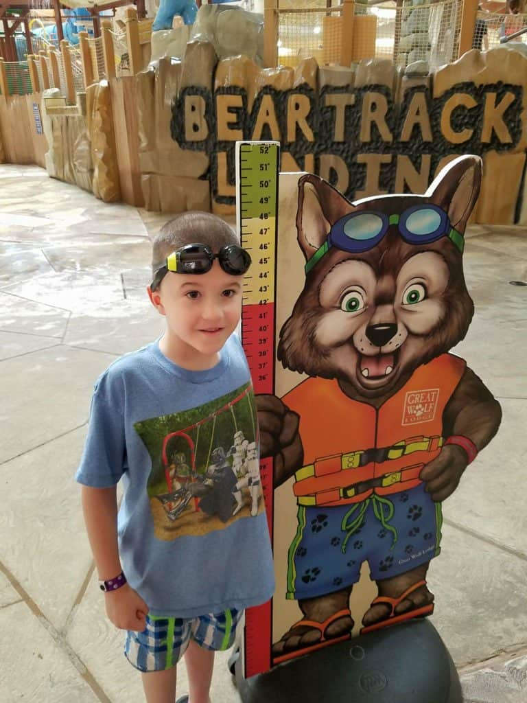 See how your child measures up at Great Wolf Lodge