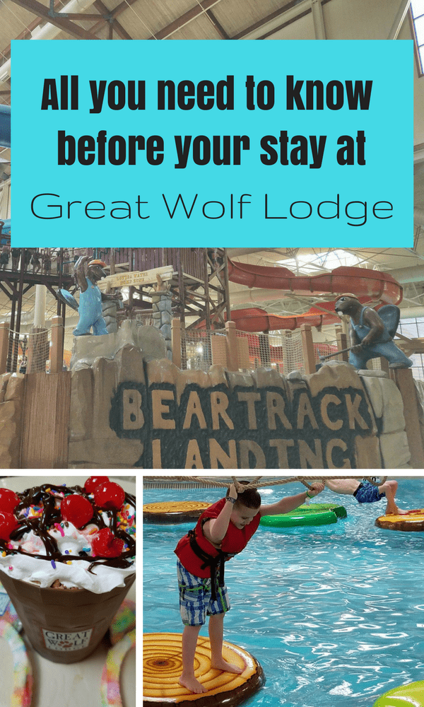Before you book your vacation at Great Wolf Lodge, make sure you get the scoop on Great Wolf Lodge. From what to eat, things to do, and room types we have it covered. #greatwolflodge