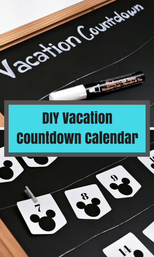 Looking for a crafty way to count down for your next trip? Check out our DIY Vacation Countdown Calendar! We've included printables for Disney, general and a tropical getaway!