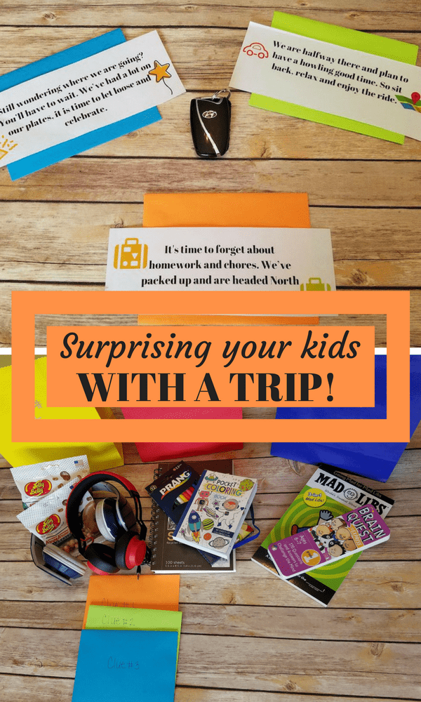Planning a Surprise trip for your kids? Read about how we surprised our kids with a spring break trip and gave them clues along the way!