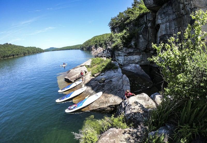 Activities on Summersville lake, West Virginia
