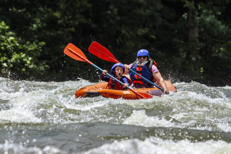 White water rafting on the New River