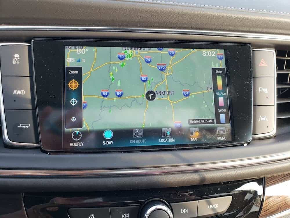 Weather in the Buick Enclave