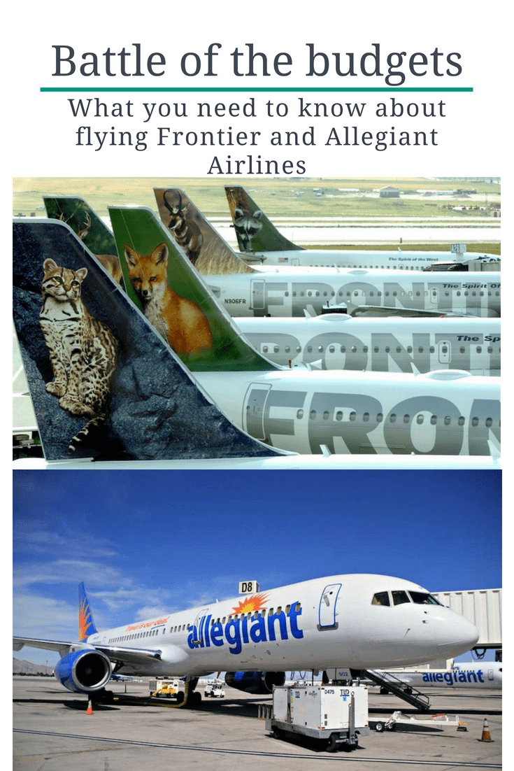 Everything you need to know about Flying with Allegiant and Frontier Airlines.