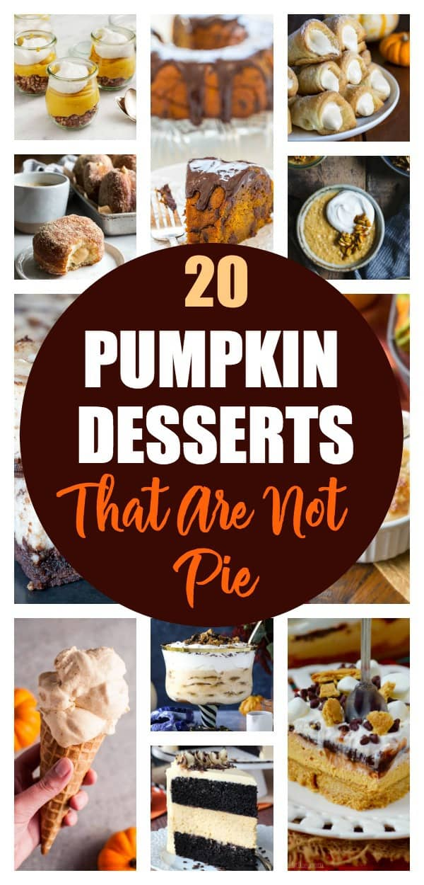 Love pumpkin but over pie? Take a look at this list of 20 delicious desserts that aren't pie!