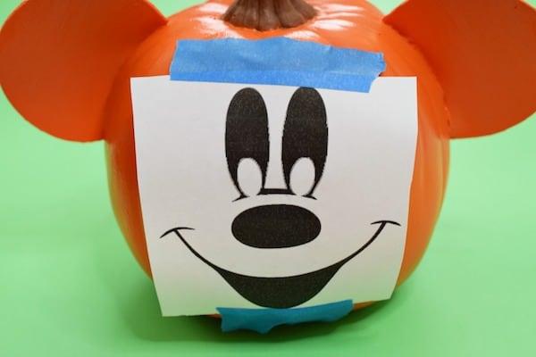 No Carve Mickey Pumpkin