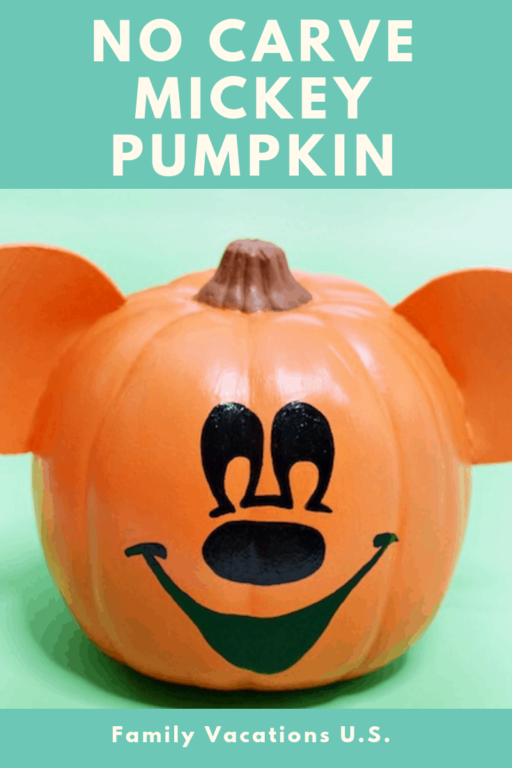 This no carve Mickey Pumpkin Tutorial brings Disney to your home. With no carving, your porch will have a touch of Mickey Mouse in no time!