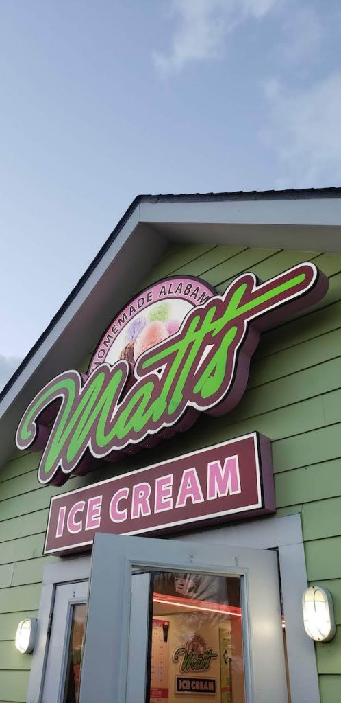Matt's Ice Cream Gulf Shores Alabama