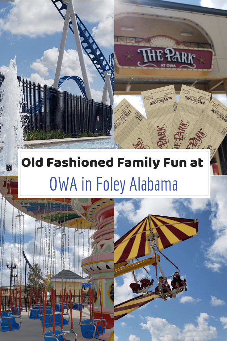 Headed to Foley Alabama and wondering about OWA? We've got the scoop on what you need to know when planning a trip to OWA in Foley Alabama. #alabama #amusementparks #visitalabama