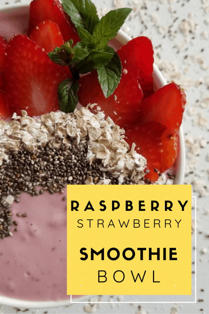 Fallen in love with smoothie bowls? This Raspberry Strawberry Smoothie Bowl Recipe is just what you need for a healthy treat or as a way to start your day.