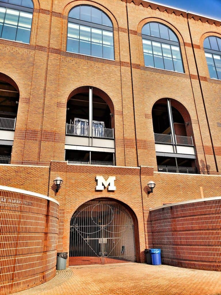 Entrance into the tunnel that leads to the field at Michigan Stadium - Family Vacations U.S.